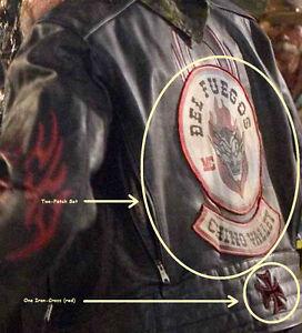 wild hogs movie biker gang omg leather jacket back set