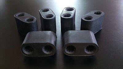 6 X HOLDEN COMMODORE RUBBER EXHAUST HANGER MOUNTS V6 V8 VP VR VS VT VX VY VU VZ