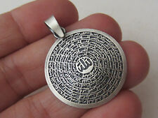 TURKISH 925K STERLING SILVER Asmaul Husna 99 names of Allah ISLAM PENDANT