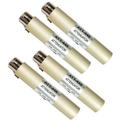 ATT-448 Hosa XLR Mic Input Attenuator 3 20/30/40 dB Microphone Pad - 4-Pack!