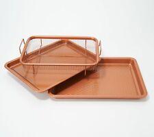 "Copper Chef Diamond 9""x13"" Cookie Sheet & Medium Crisper Tray"
