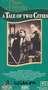 A-TALE-OF-TWO-CITIES-Basil-Rathbone-Card-Case-VIDEO-VHS-Pal-SirH70