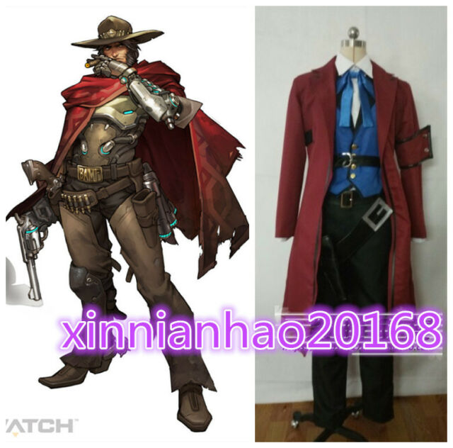 Game OW Overwatch Jesse Mccree Riverboat Skin cosplay costume full set !COS