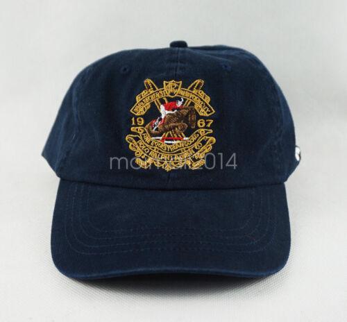 POLO RL 1967 Pony Logo Visor Hat Strapback Men/'s Baseball Cap Vintage Sport New