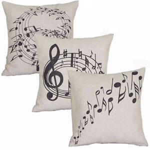 Am-KF-KD-Square-Music-Notes-Melody-Linen-Throw-Pillow-Case-Waist-Cushion-Cove