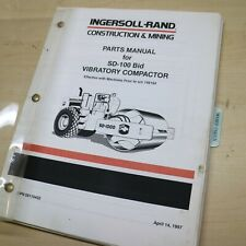 Ir Ingersoll Rand Sd 100 Roller Parts Catalog Manual Book List Compactor Drum