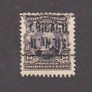 United-States-stamp-308-used-Chicago-PC-SCV-10-00