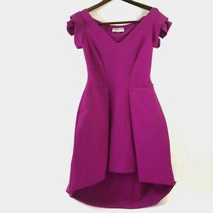 Chiara-Boni-Womens-Lione-Pleated-Jersey-Cocktail-Dress-Fuscia-Pink-Size-46-12