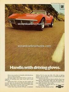 1970 CHEVROLET CHEVY CORVETTE A3 POSTER AD ADVERT ADVERTISEMENT SALES BROCHURE