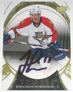 JONATHAN-HUBERDEAU-SIGNED-15-16-UPPER-DECK-TRILOGY-PANTHERS-CARD-AUTOGRAPH-AUTO