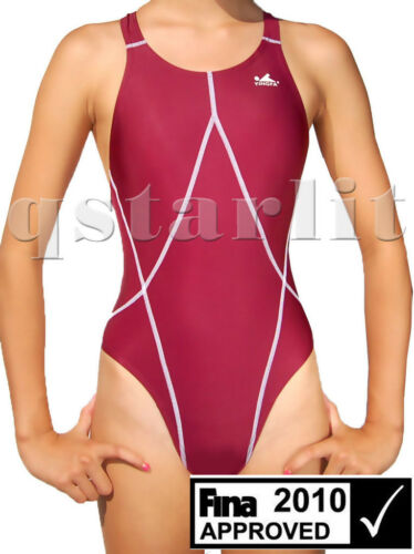 Girls Junior Female Endurance Racing Competition Swimwear M-XL 28-32 Girls 12-16
