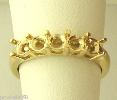 5 STONE RING SETTING FOR 1 5CT 0.20CT EACH STONE 14K YELLOW gold 1CT TOTAL