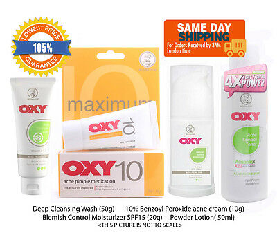 OXY Maximum Acne Pimple Treatment Complete Set Benzoyl Peroxide, Cleanser, etc
