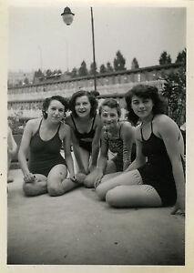 photo ancienne vintage snapshot femme sexy piscine molitor paris woman 1942 ebay. Black Bedroom Furniture Sets. Home Design Ideas