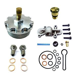 Billet-Aluminum-Fuel-Filter-Cap-Test-Port-Blue-Spring-Kit-HFCM-Plug-Banjo-Bolts