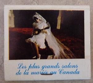 Rare-Vintage-Match-Book-La-Jeunesse-Lana-Inc-Plaza-St-Hubert-Robes-de-Mariees