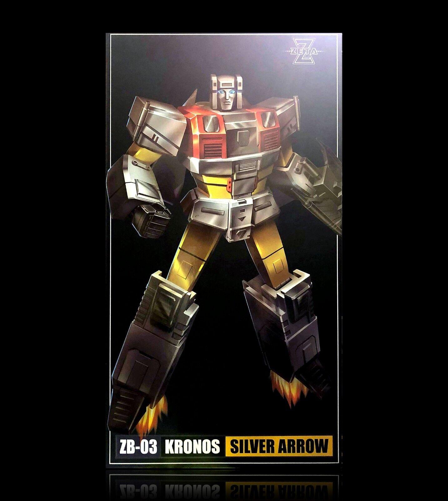 Transformers obra maestra Zeta Juguetes ZB-03 Flecha de Plata MP platabolt sin usar y en caja sellada