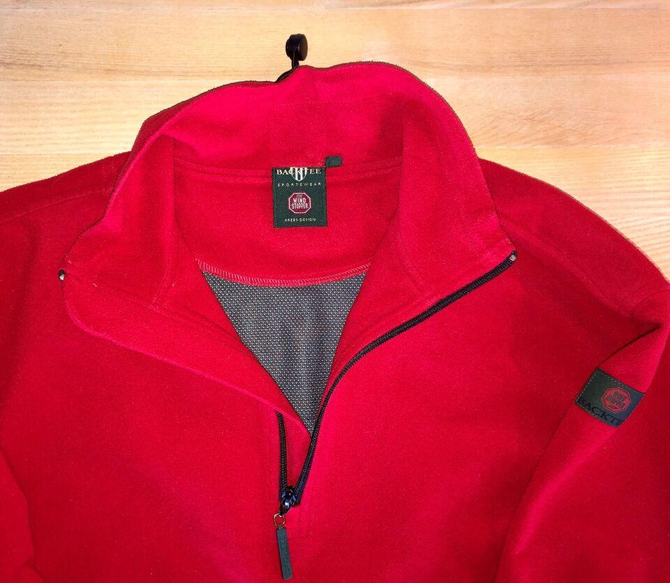 Windbreaker, Rød fleece, BackTee