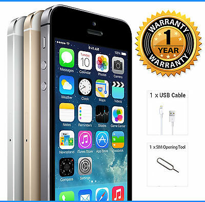 Apple iPhone 5S 16GB (Unlocked) Smartphone - EXCELLENT CONDITION Various Colours