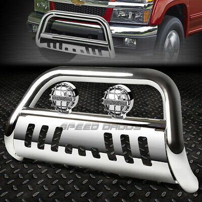 "FOR 04-12 CHEVY COLORADO//GMC CANYON CHROME 3/"" BULL BAR PUSH BUMPER GRILLE GUARD"