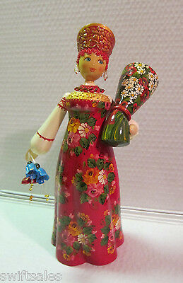 "New ""Russian Matryoshka"" Hand-Made Linden Wood Doll - #17"