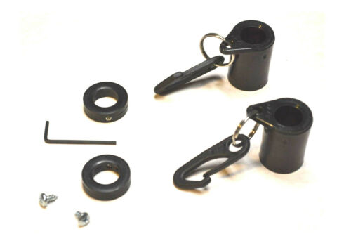 """2/"""" Black Never Furl Eliminates flag wrapping around pole read all"""