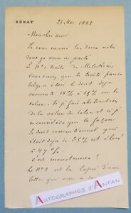 L-A-S-1882-Auguste-SCHEURER-KESTNER-Chimiste-Senateur-Mulhouse-Valdoie-Lettre