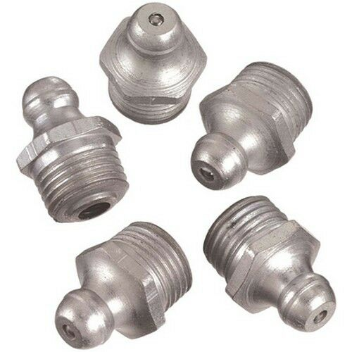 Lincoln 5191 Grease Fitting Straight 1//4-28 Taper Thread 10pc