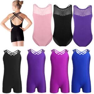 a6b34f451 Girls Kids Ballet Dance Dress Toddler Leotards Gym Dancewear ...