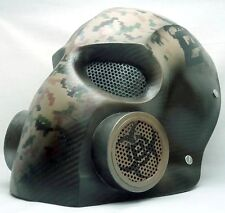 """Army of Two """"BioHazard"""" Carbon Gas Custom Fiberglass Paintball / Airsoft Mask"""