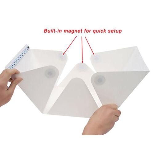 UK 400 mm Portátil Plegable Con Mini Estudio Fotográfico Fotografía Telón de fondo de Tienda LED De Caja