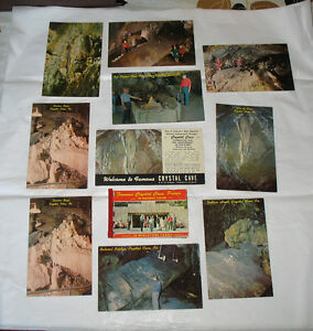 Crystal Cave Pennsylvania VIntage Postcard LOT Post Cards Folder Souvenir