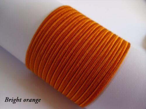 10 meters 50 colours 2 5 Original Soutache Braid Cord 3mm 100/% viscose 1 3