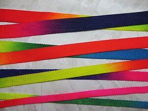 5 Yards,3//8/'/',5//8/'/',3//4/',1/'/'-Rainbow Heavy Nylon webbing-10,15,20,25mm