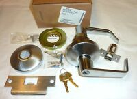 Falcon B501pd Dan 626 Entry Door Heavy Duty Lock Lever & Keys Dane Satin Chrome