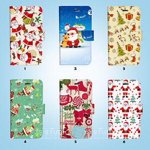 Christmas-Santa-Wallet-Case-Samsung-Galaxy-S3-4-5-6-7-8-Edge-Note-Plus-74