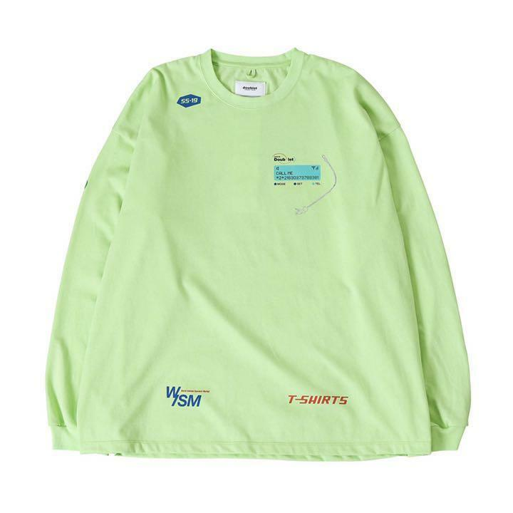 DOUBLET WISM LONG SLEEVE T SHIRT CASUAL LIGHT GREEN SMALL S MEN NEW WITH TAGS