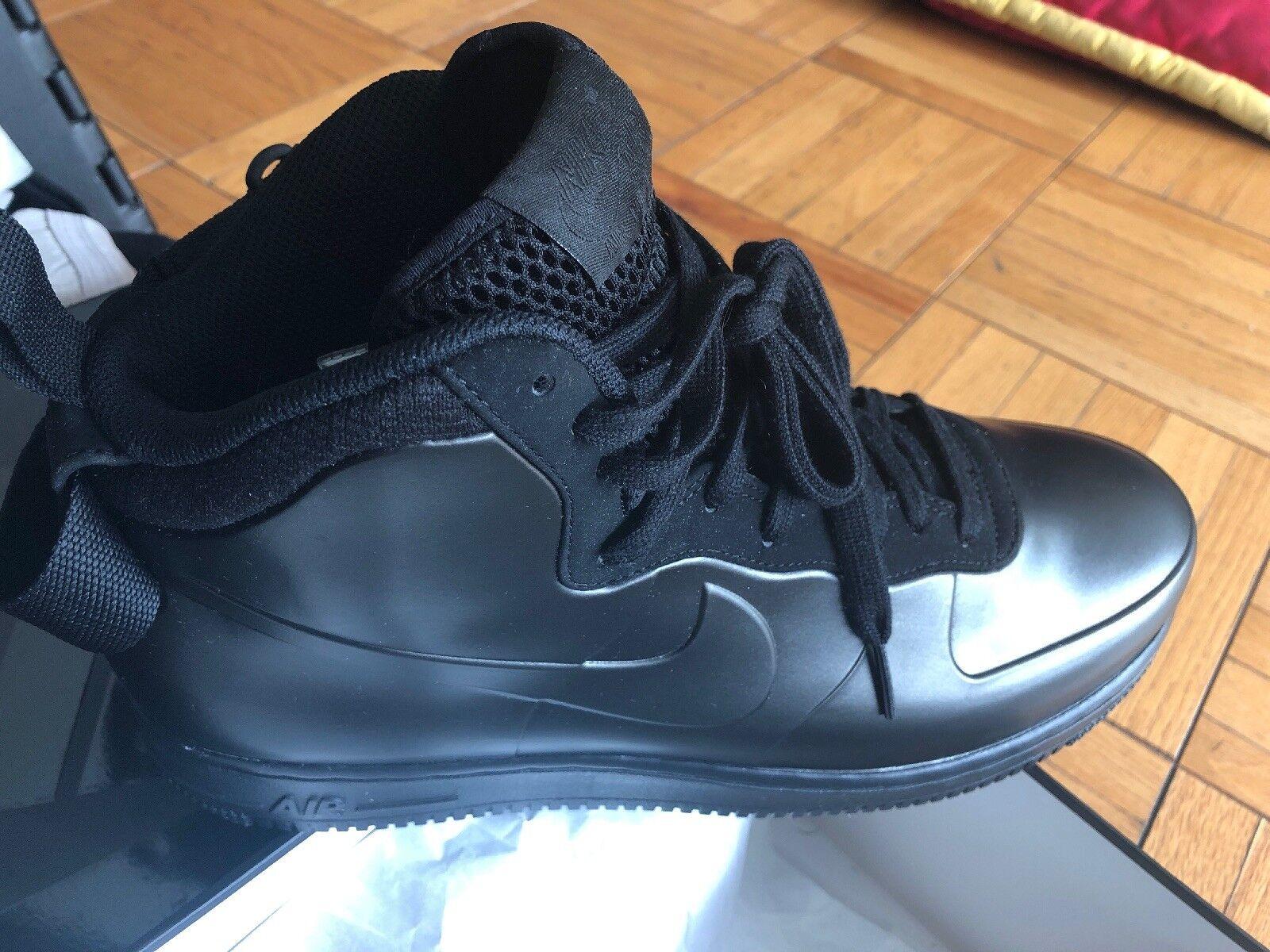 Nike Air Force 1 Foamposite Cup Size 9.5 Triple Nero AH6771-001
