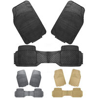 Rubber Car Floor Mats New Heavy Duty 3pcs All Weather Universal Fit Front & Rear