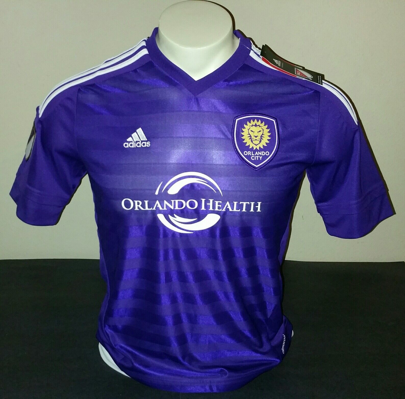 Adidas Orlando City Youth Home Jersey, Purple White, Size YXL