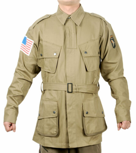 WWII US ARMY M1942 M42 AIRBORNE PARATROOPER UNIFORM MILITARY JACKET SIZE S
