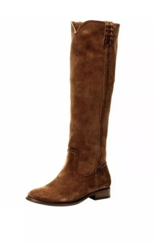 New $377 FRYE /'Cara/' Tall Suede Boots Woods Size 6B