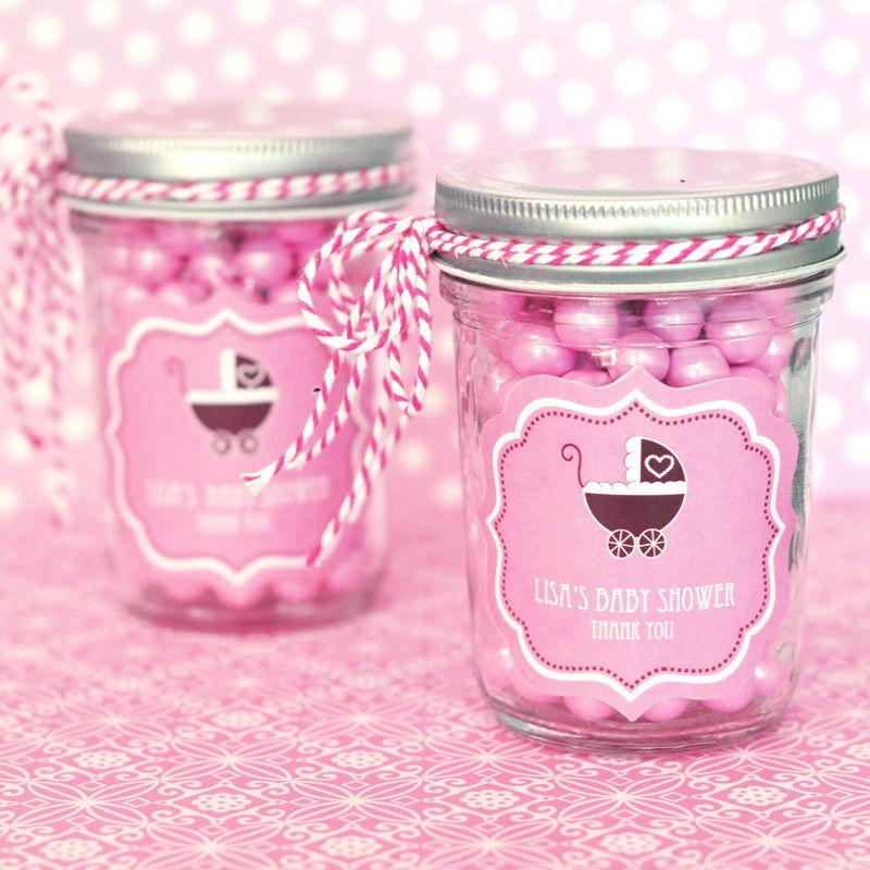 48 Personalized Rosa Baby Theme Mini Mason Jars Baby Baby Baby Shower Favors 2b33f4