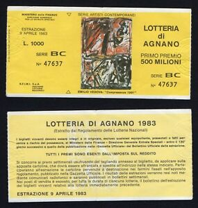 Ticket Lottery By Agnano 1983 (Series Artists Contemporary)