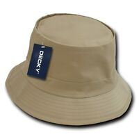 Khaki Fisherman's Fishing Sun Bucket Safari Hiking Boonie Cap Hat Caps Hats L/xl