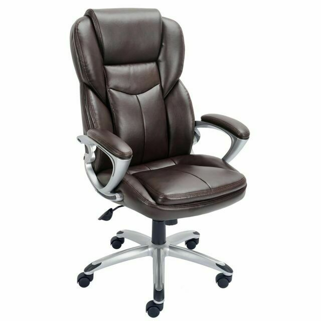 Staples Giuseppe Bonded Leather Executive Office Chair Brown For Sale Online Ebay