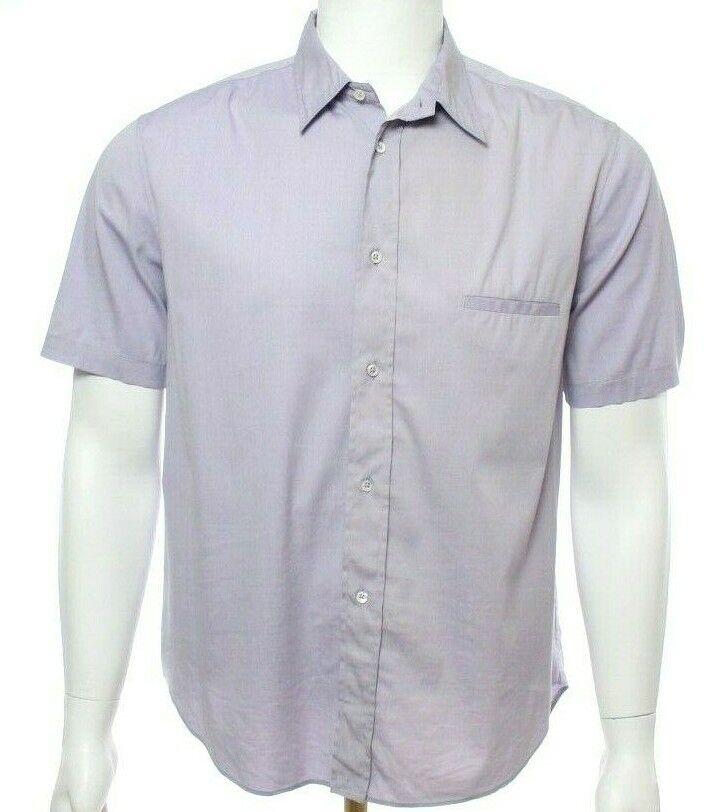 3e6c5dd0af Jil Sander Men 43 Light Purple Button Down Shirt Short Sleeve Casual ...