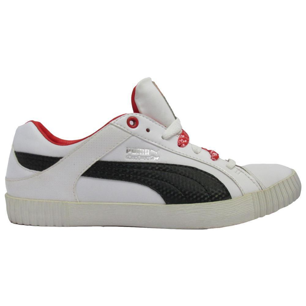 Mens PUMA STREET JUMP LO DM White Trainers 353431 02