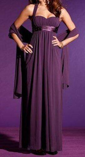 LAURA SCOTT Evening Neckholder Chiffon Abendkleid /& Schal Abiball lila NEU