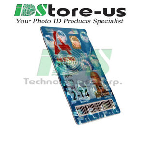 Full-Color-Custom-Printed-ID-cards-PVC-w-Globes-Holographic-Overlay-Varnish